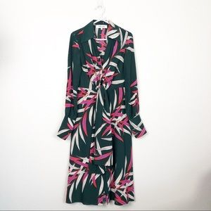 DVF A-Line Silk Dress Quincy Hunter sz 8